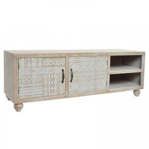 MUEBLE TV MADERA AFRICANO NATURAL MARRON