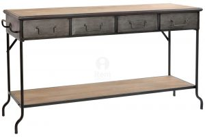CONSOLA MADERA METAL INDUSTRIAL